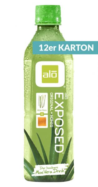 ALO Drink - EXPOSED, Aloe Vera mit Honig - 0,5l (12er Karton)
