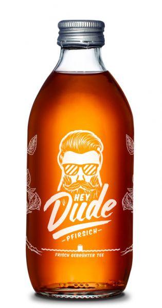 Hey Dude - Eistee Pfirsich 0,33l Glas