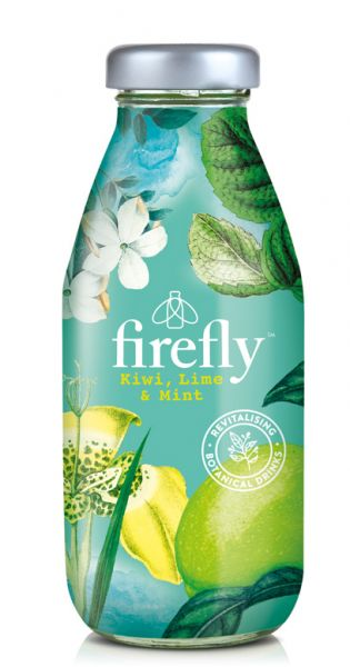 firefly natural drinks - green: Kiwi, Lime & Mint 0,33l Glas