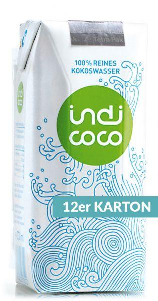 indi coco - reines Kokosnusswasser 0,33l Tetra-Pak (12er Karton)