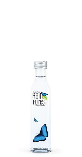 Rain Forest Water - Artesisches Wasser aus Costa Rica, still - 0,25l (Einzelglas)