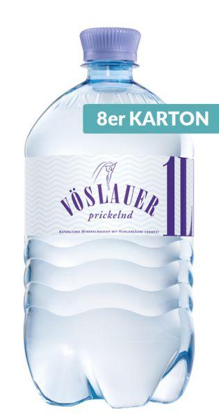 Voeslauer Mineralwasser - prickelnd, 1l PET (2 x 4er Tray)