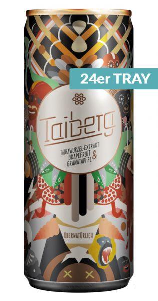 Taiberg Drink - Natürliche koffeinhaltige Limonade 0,25l Dose (24er Tray)
