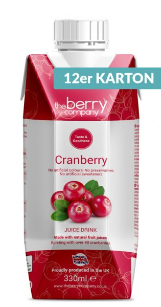 The Berry Company - Cranberry 330ml - Tetra-Paks (12er Karton)