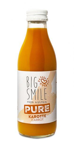 Big Smile - 100% Organic, pure Karotte 0,2l Glas
