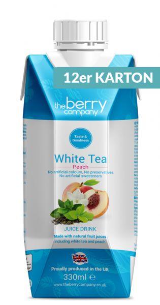 The Berry Company - Weißer Tee, Pfirsich 0,33l Tetra-Pak (12er Karton)