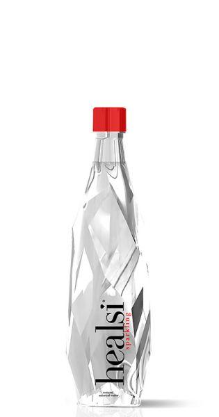 healsi Wasser - Diamant Wasser, crystal, sprudelig - 0,4l (Einzelglas)