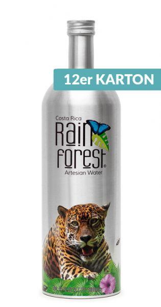 Rain Forest Water - Artesisches Wasser aus Costa Rica - still 1,3l Alu-Flasche (2 x 6er Karton)