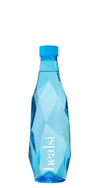 healsi Water - Diamant Flasche, blue 0,5l PET