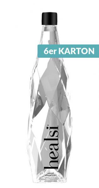 healsi Water - Diamant Flasche, crystal, still 0,85l Glas (6er Karton)