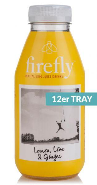 firefly natural drinks - yellow: Lemon, Lime & Ginger 0,4l PET (12er Tray)