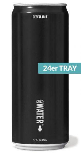 CanO Water - Premium Wasser aus der Dose, wiederverschließbar - sprudelig 0,33l Dose (24er Tray)