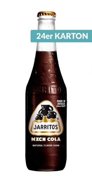 Jarritos mexikanische Limo - natürlicher Geschmack, Mexikanische Cola 0,37l - Glas (24er Karton)