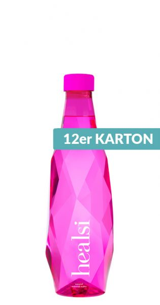 healsi Water - Diamant Flasche, pink 0,5l PET (12er Karton)