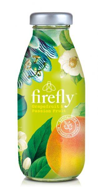 firefly natural drinks - light green: Grapefruit & Passionfruit 0,33l Glas